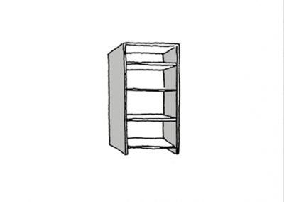 box shelf - croquis 1
