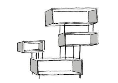 box shelf - croquis 3